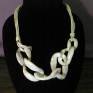 NWOT Unique Rope and Chainlink Necklace